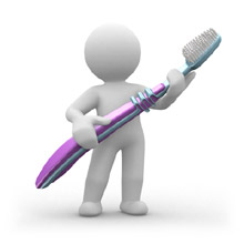 Dentistes - Bonhomme brosse a dents